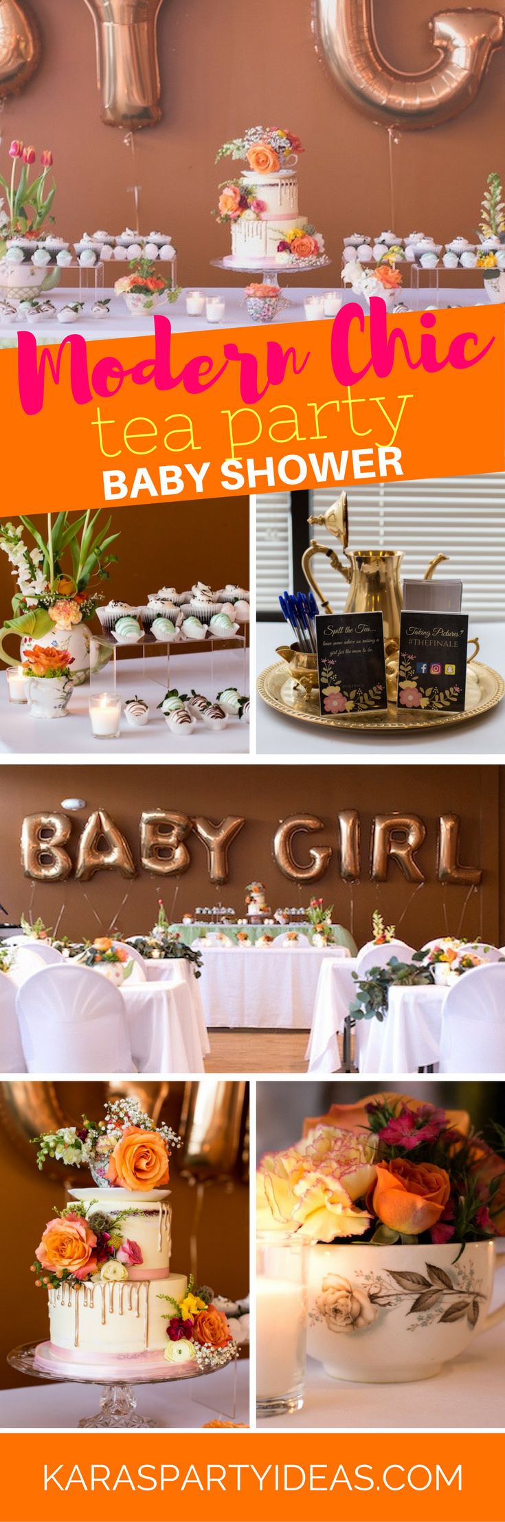 From kara s party ideas rustic dessert table display designed by - Modern Chic Tea Party Baby Shower Via Kara S Party Ideas Karaspartyideas Com