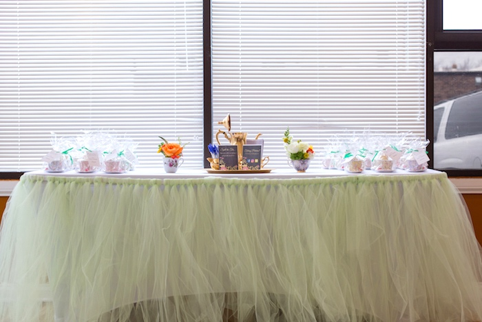 Welcome table from a Modern Chic Tea Party on Kara's Party Ideas | KarasPartyIdeas.com (36)