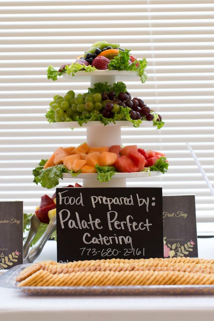 Fruit platter from a Modern Chic Tea Party on Kara's Party Ideas | KarasPartyIdeas.com (14)