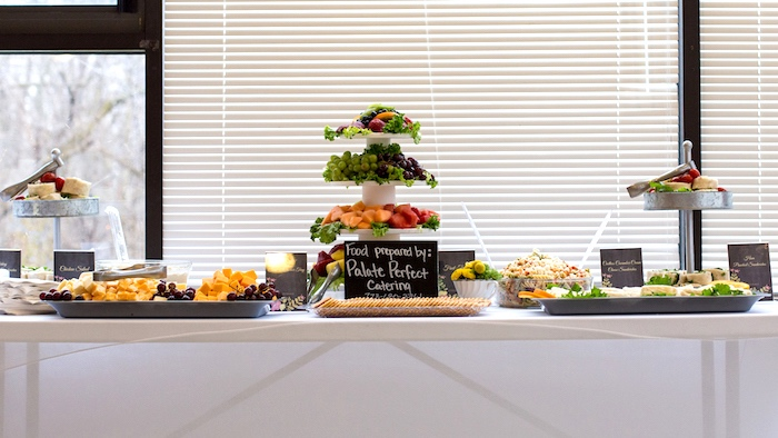 Food table from a Modern Chic Tea Party on Kara's Party Ideas | KarasPartyIdeas.com (13)