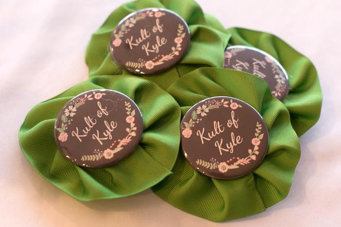 Buttons from a Modern Chic Tea Party on Kara's Party Ideas | KarasPartyIdeas.com (8)