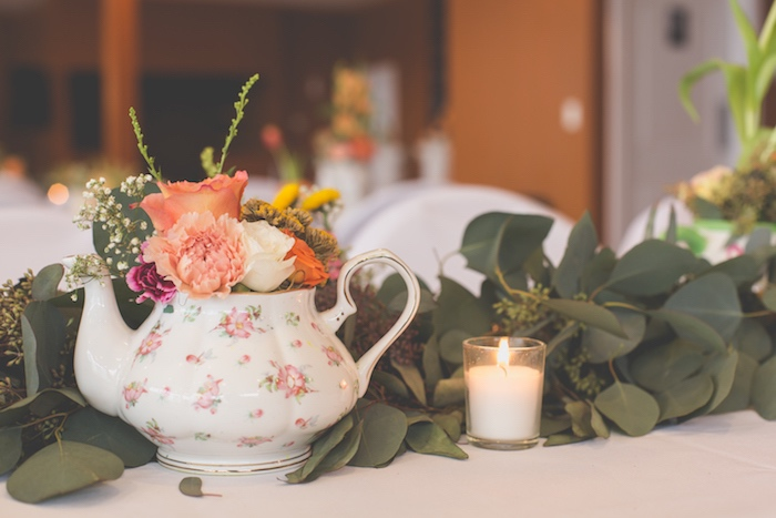 Guest table centerpieces from a Modern Chic Tea Party on Kara's Party Ideas | KarasPartyIdeas.com (29)