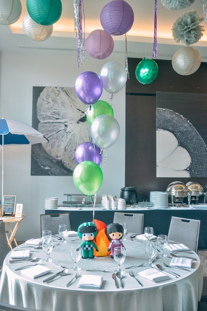 Guest Table From A Monster Truck Jam Birthday Party On Karas Ideas
