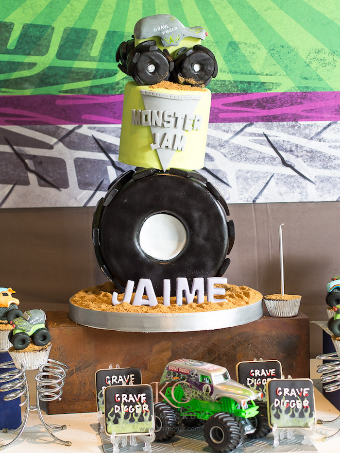 Kara\'s Party Ideas Monster Truck Monster Jam Birthday Party | Kara\'s ...