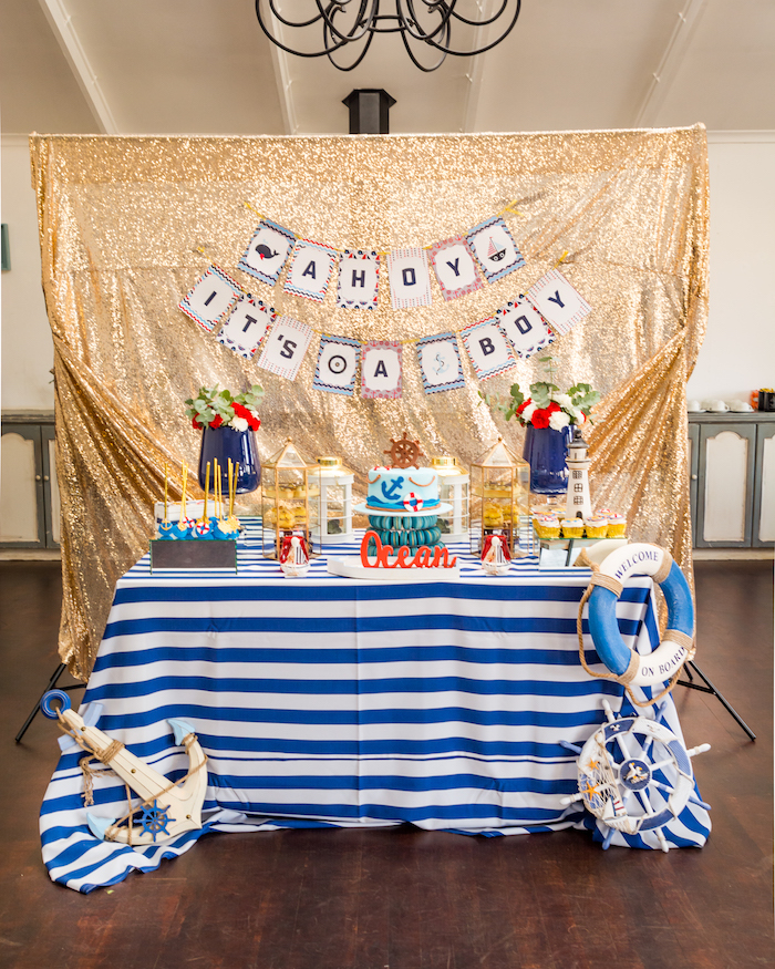 Nautical Glam Baby Shower on Kara's Party Ideas | KarasPartyIdeas.com (12)
