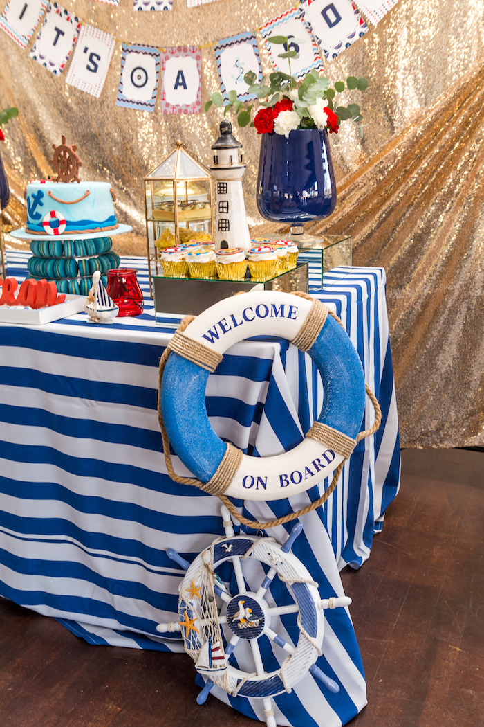 Nautical Glam Baby Shower on Kara's Party Ideas | KarasPartyIdeas.com (27)