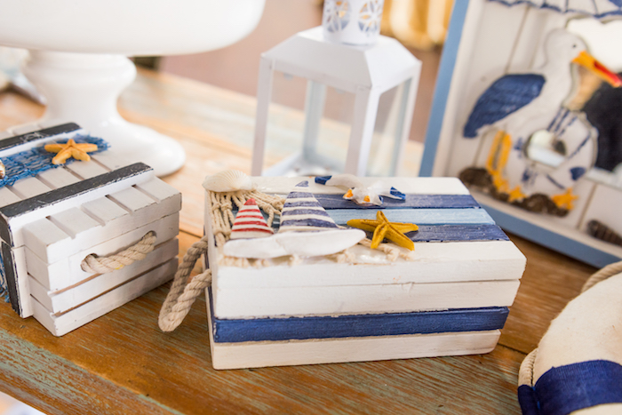 Nautical box from Nautical Glam Baby Shower on Kara's Party Ideas | KarasPartyIdeas.com (25)
