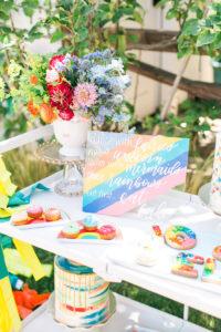 Dessert table from an Over the Rainbow Birthday Party on Kara's Party Ideas | KarasPartyIdeas.com (30)