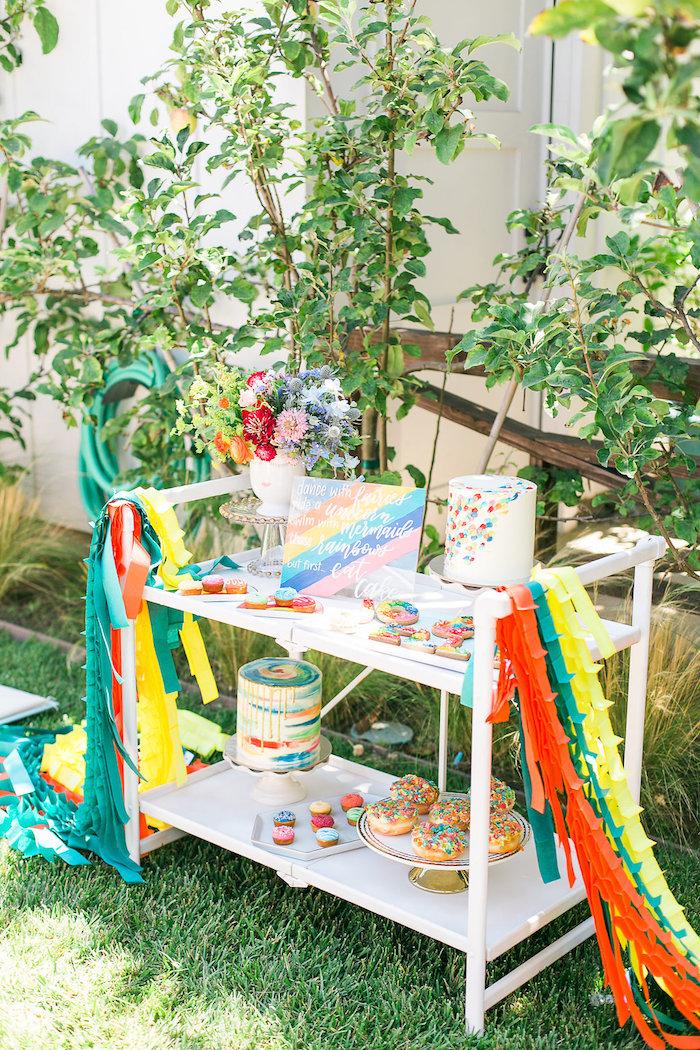 Dessert Bar From An Over The Rainbow Birthday Party On Karau0027s Party Ideas |  KarasPartyIdeas.