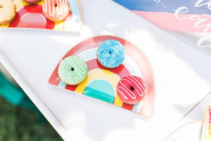 Doughnuts from an Over the Rainbow Birthday Party on Kara's Party Ideas | KarasPartyIdeas.com (28)