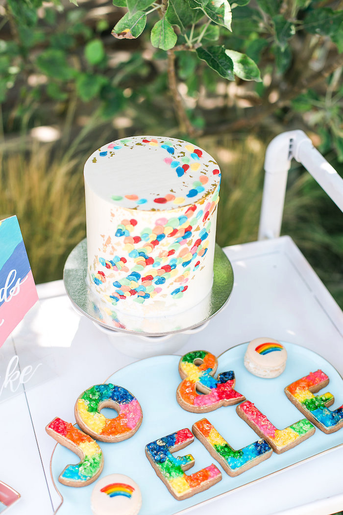 Cake from an Over the Rainbow Birthday Party on Kara's Party Ideas | KarasPartyIdeas.com (26)