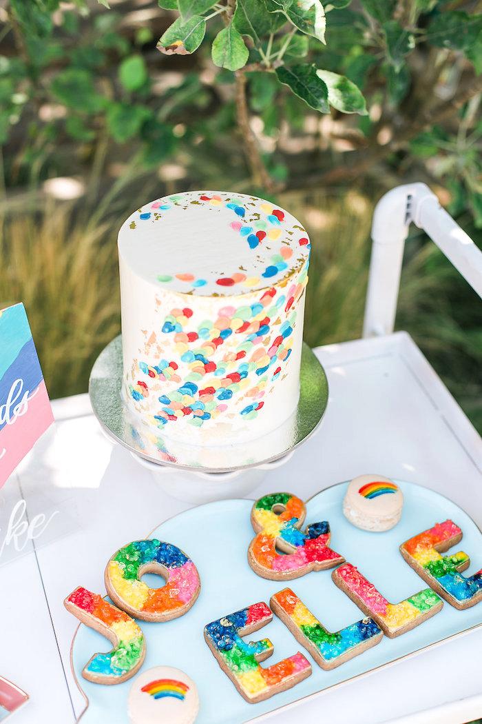 Cake from an Over the Rainbow Birthday Party on Kara's Party Ideas | KarasPartyIdeas.com (26)