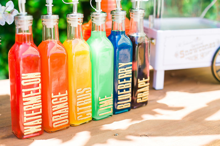 Drink mixers from an Over the Rainbow Birthday Party on Kara's Party Ideas | KarasPartyIdeas.com (22)