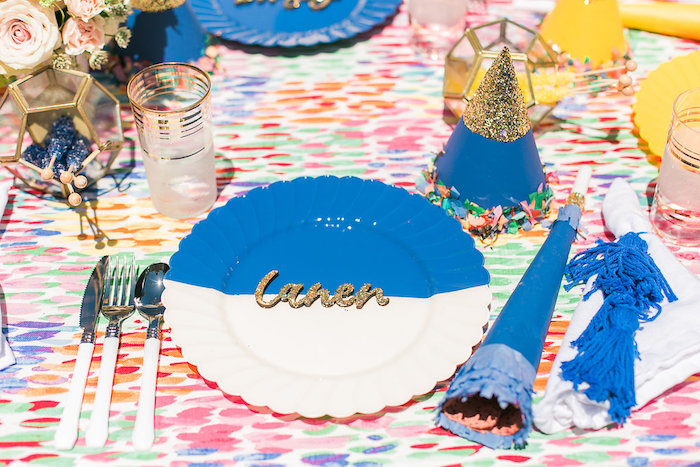 Place setting from an Over the Rainbow Birthday Party on Kara's Party Ideas | KarasPartyIdeas.com (20)