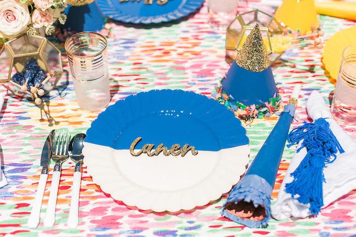 Place setting from an Over the Rainbow Birthday Party on Kara's Party Ideas | KarasPartyIdeas.com (20)
