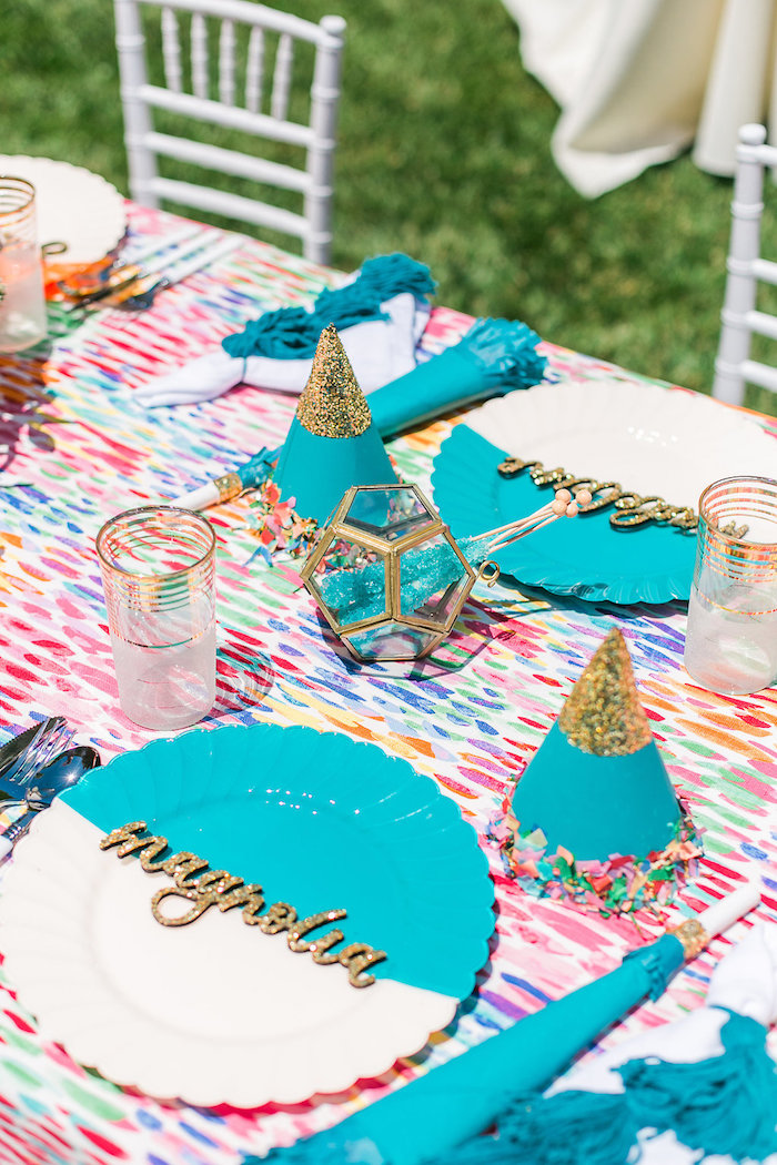 Place setting from an Over the Rainbow Birthday Party on Kara's Party Ideas | KarasPartyIdeas.com (19)