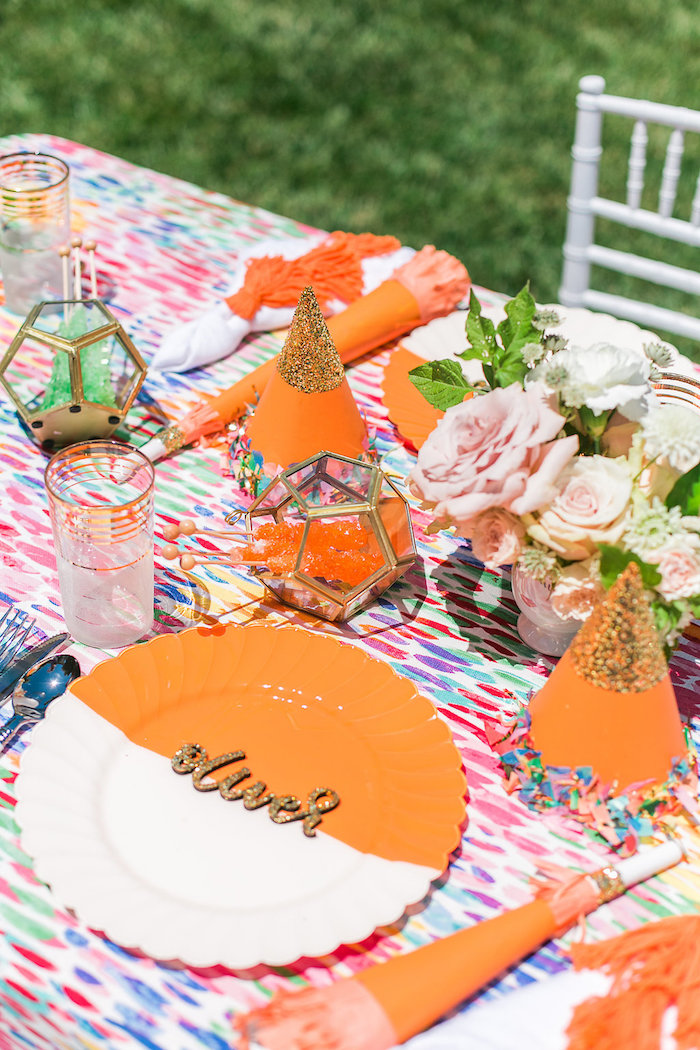 Place setting from an Over the Rainbow Birthday Party on Kara's Party Ideas | KarasPartyIdeas.com (18)
