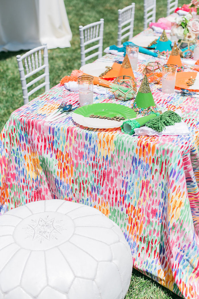 Guest table from an Over the Rainbow Birthday Party on Kara's Party Ideas | KarasPartyIdeas.com (14)