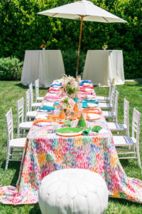 Rainbow guest table from an Over the Rainbow Birthday Party on Kara's Party Ideas | KarasPartyIdeas.com (33)