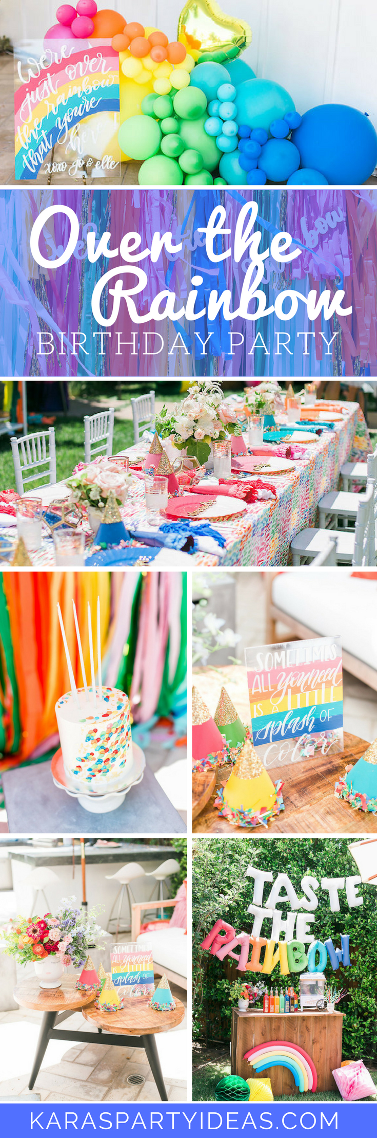 Over the Rainbow Birthday Party via Kara's Party Ideas - KarasPartyIdeas.com
