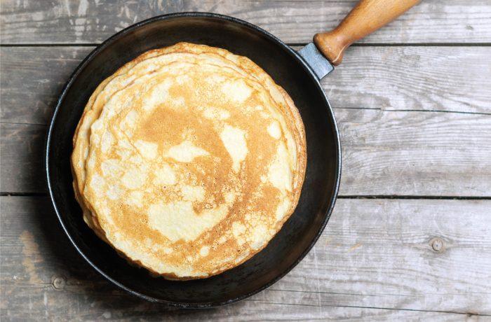 Pancake from Easy Snowman Pancake   Kara's Party Ideas   Snowman recipe   Christmas breakfast recipe   #snowmanpancake #christmasbreakfast #christmasbreakfastrecipe #christmas2017 #karaspartyideas #recipes #breakfastrecipe