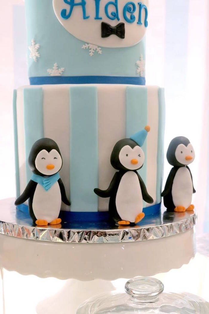 Cake penguins from a Penguin Party on Kara's Party Ideas | KarasPartyIdeas.com (11)