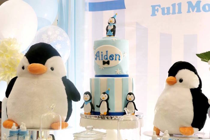 Cakescape from a Penguin Party on Kara's Party Ideas | KarasPartyIdeas.com (9)