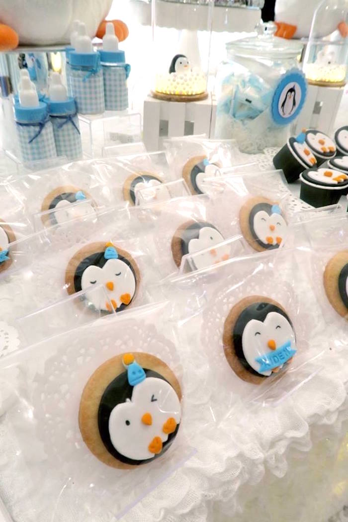 Penguin cookies from a Penguin Party on Kara's Party Ideas | KarasPartyIdeas.com (14)