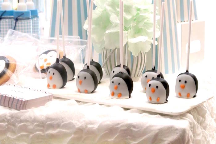 Penguin cake pops from a Penguin Party on Kara's Party Ideas | KarasPartyIdeas.com (12)