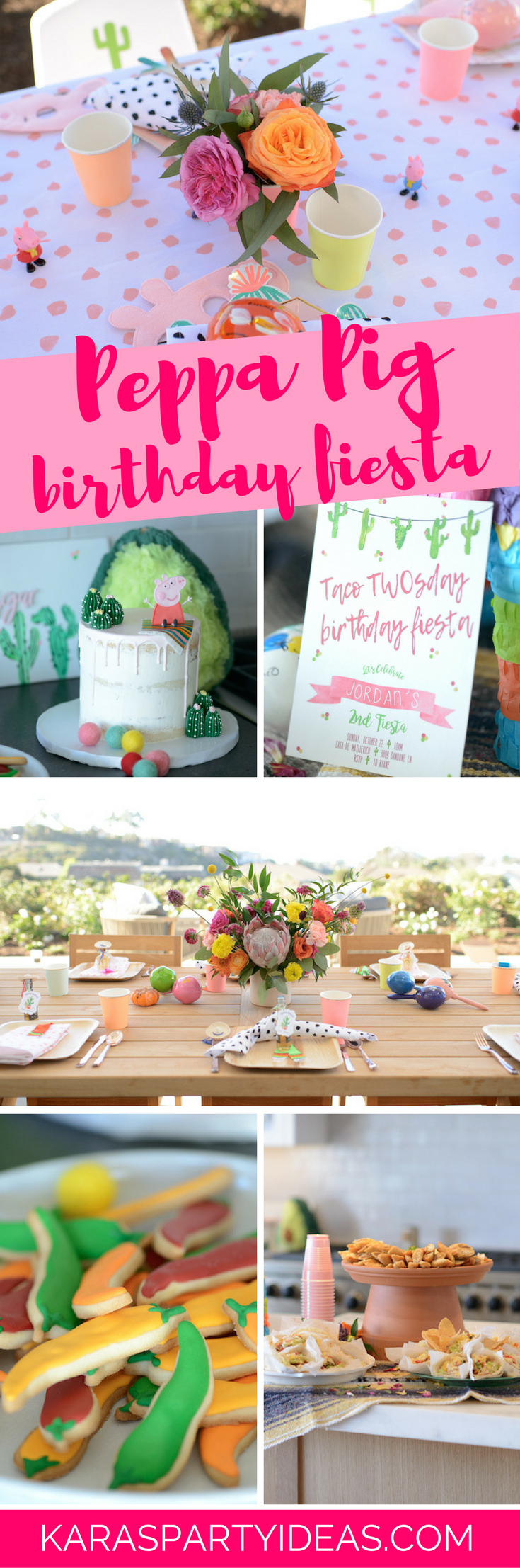 Peppa Pig Birthday Fiesta via Kara's Party Ideas - KarasPartyIdeas.com (1)