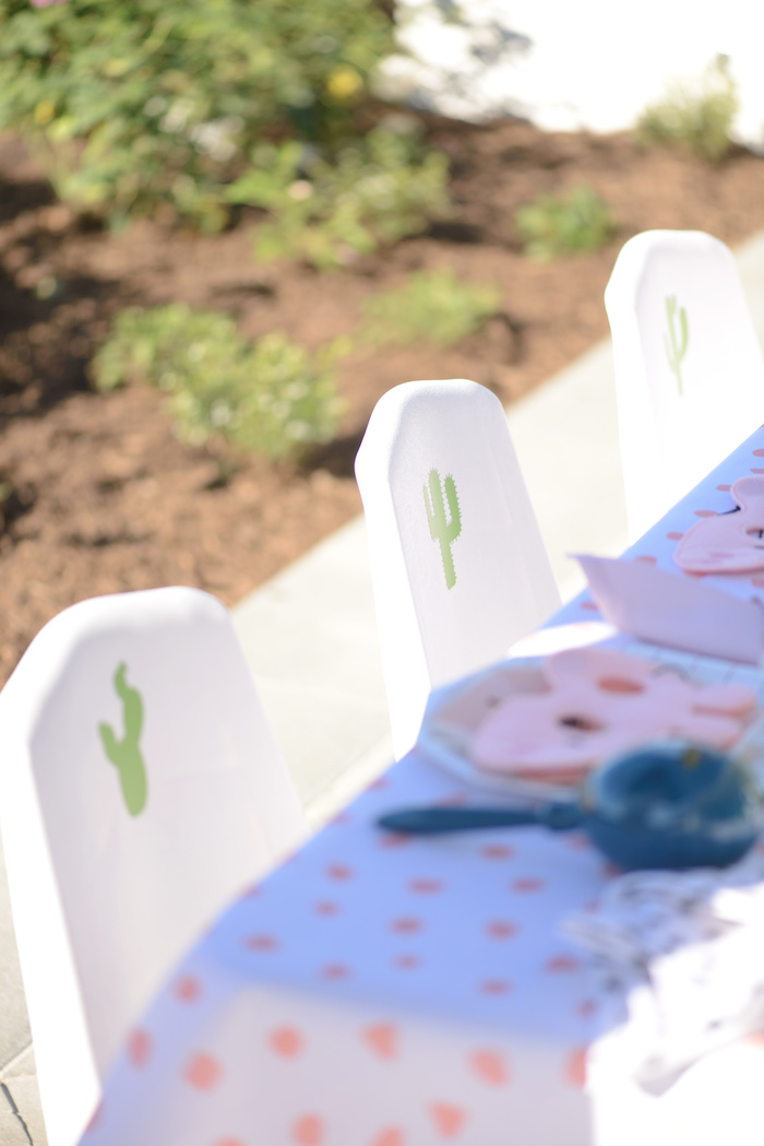 Kid chairs from a Peppa Pig Birthday Fiesta on Kara's Party Ideas | KarasPartyIdeas.com (33)