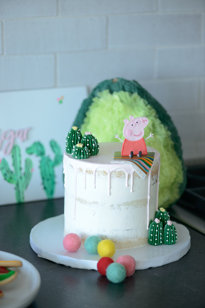 Peppa Pig Fiesta Cake from a Peppa Pig Birthday Fiesta on Kara's Party Ideas | KarasPartyIdeas.com (29)