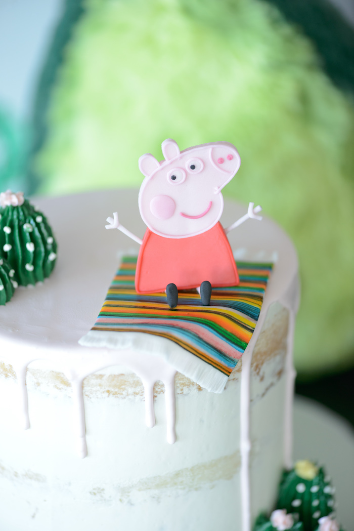 Fiesta Peppa Pig Cake Topper from a Peppa Pig Birthday Fiesta on Kara's Party Ideas | KarasPartyIdeas.com (26)