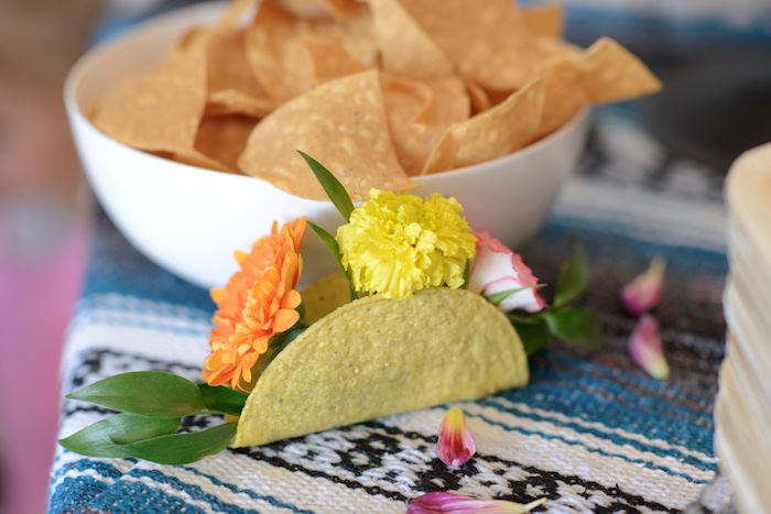 Taco & flower centerpiece from a Peppa Pig Birthday Fiesta on Kara's Party Ideas | KarasPartyIdeas.com (22)