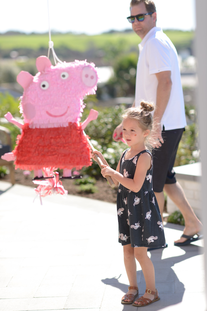 Peppa Pig Pinata from a Peppa Pig Birthday Fiesta on Kara's Party Ideas | KarasPartyIdeas.com (19)
