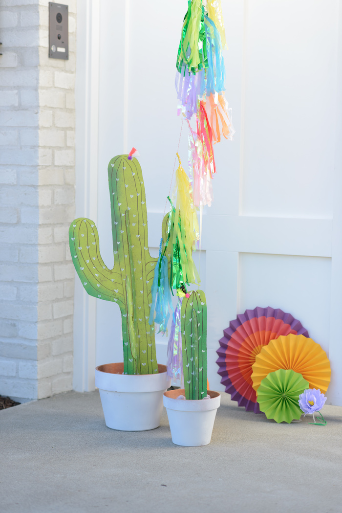 Cactus decor from a Peppa Pig Birthday Fiesta on Kara's Party Ideas | KarasPartyIdeas.com (38)