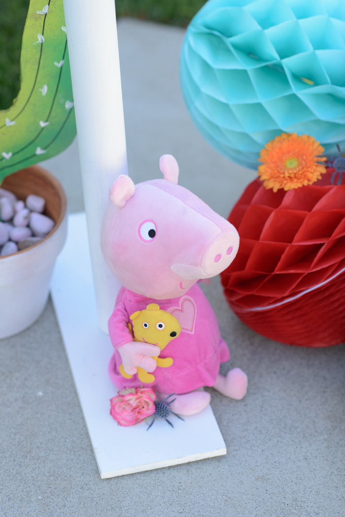 Plush Peppa Pig from a Peppa Pig Birthday Fiesta on Kara's Party Ideas | KarasPartyIdeas.com (35)