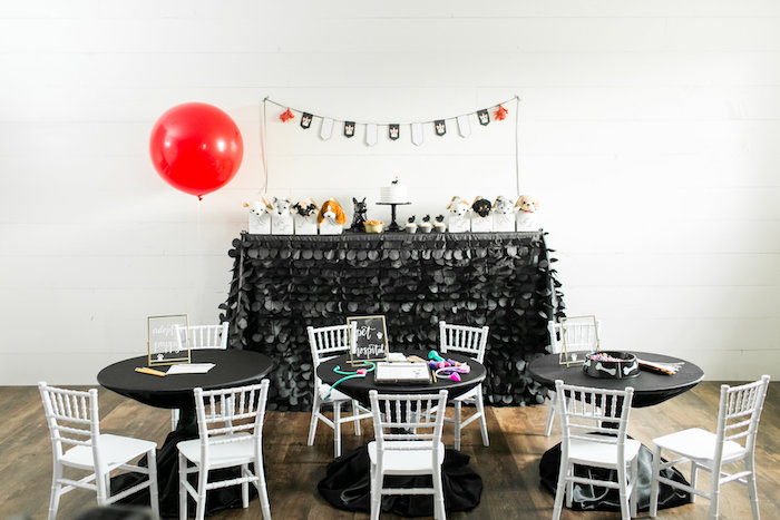 Party spread from a Pet Adoption Birthday Party on Kara's Party Ideas | KarasPartyIdeas.com (26)