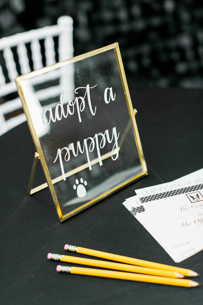 Glass Sign from a Pet Adoption Birthday Party on Kara's Party Ideas | KarasPartyIdeas.com (25)