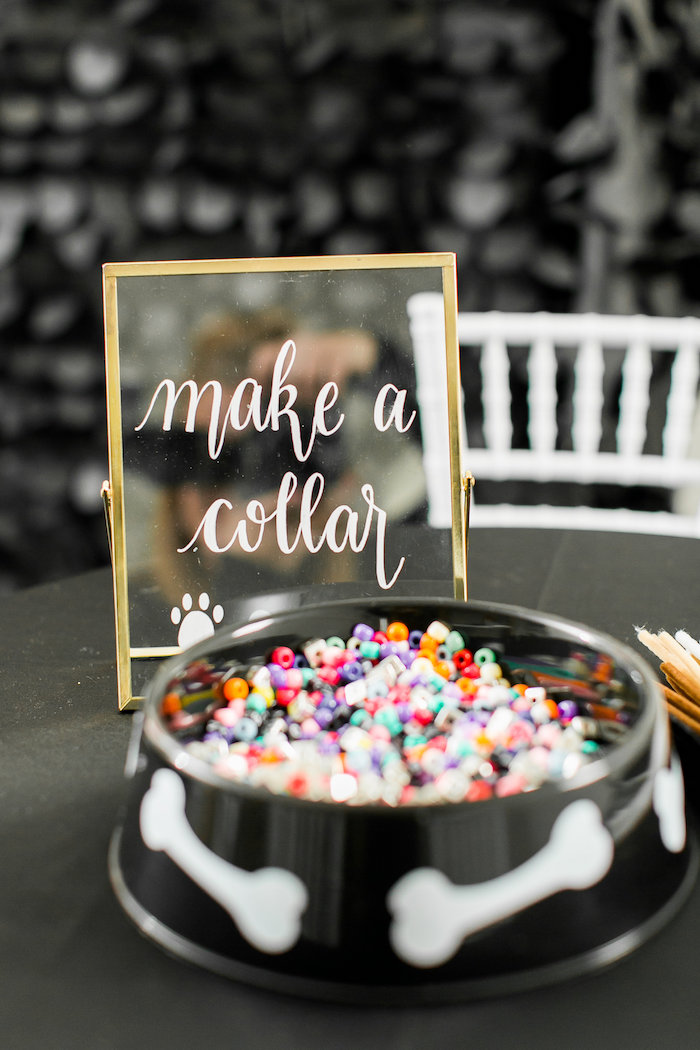 Make a Collar Party Signage from a Pet Adoption Birthday Party on Kara's Party Ideas | KarasPartyIdeas.com (21)