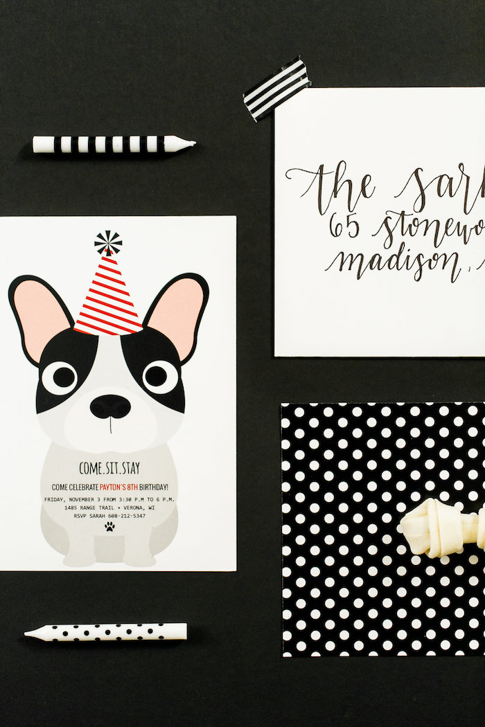 Puppy Party Invite from a Pet Adoption Birthday Party on Kara's Party Ideas | KarasPartyIdeas.com (18)