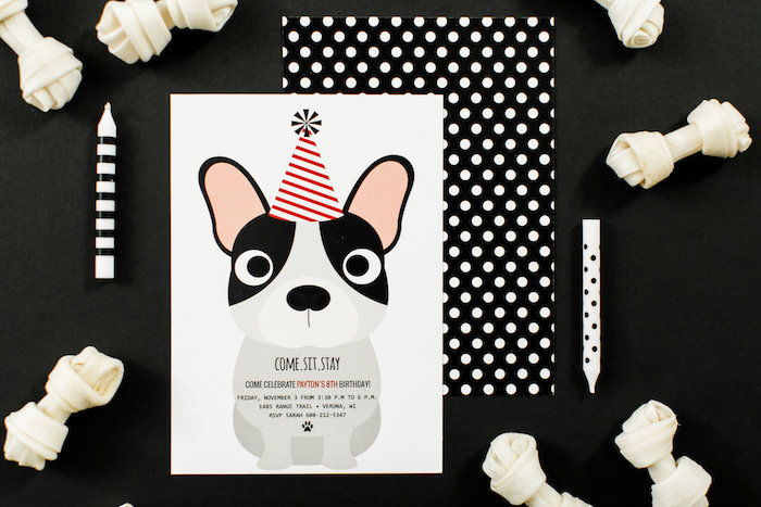 Puppy Party Invite from a Pet Adoption Birthday Party on Kara's Party Ideas | KarasPartyIdeas.com (17)