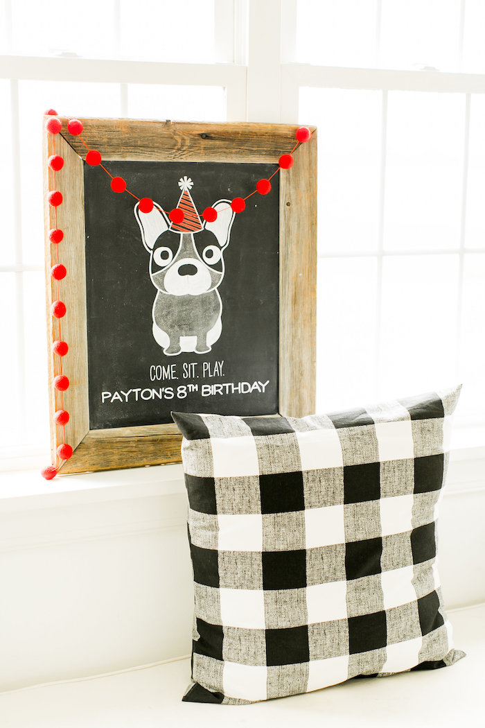 Chalkboard sign from a Pet Adoption Birthday Party on Kara's Party Ideas | KarasPartyIdeas.com (10)