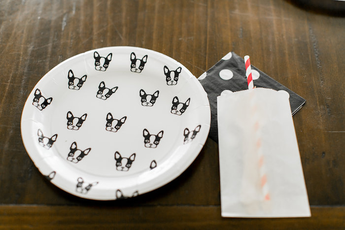 Puppy place setting from a Pet Adoption Birthday Party on Kara's Party Ideas | KarasPartyIdeas.com (9)
