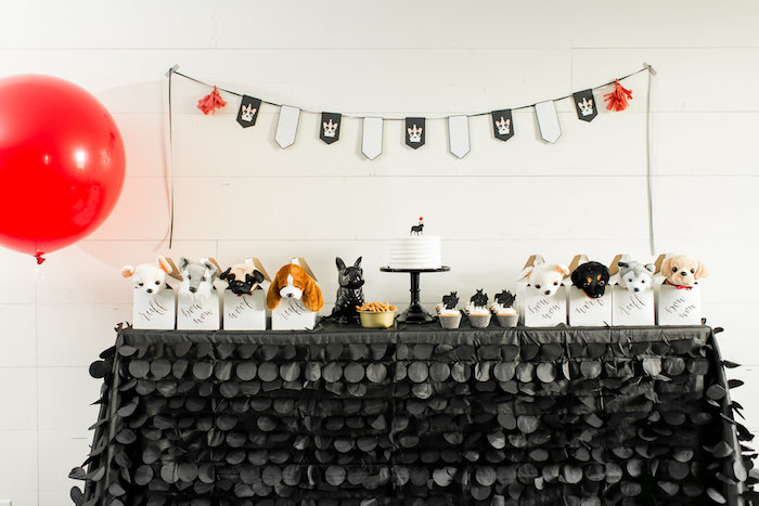 Dessert table from a Pet Adoption Birthday Party on Kara's Party Ideas | KarasPartyIdeas.com (33)