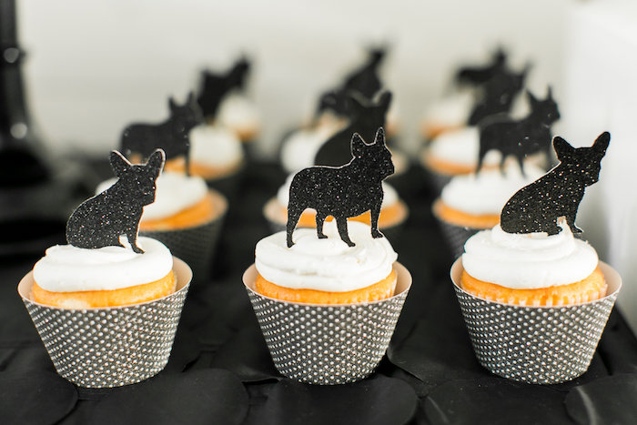 Pup cupcakes from a Pet Adoption Birthday Party on Kara's Party Ideas | KarasPartyIdeas.com (29)