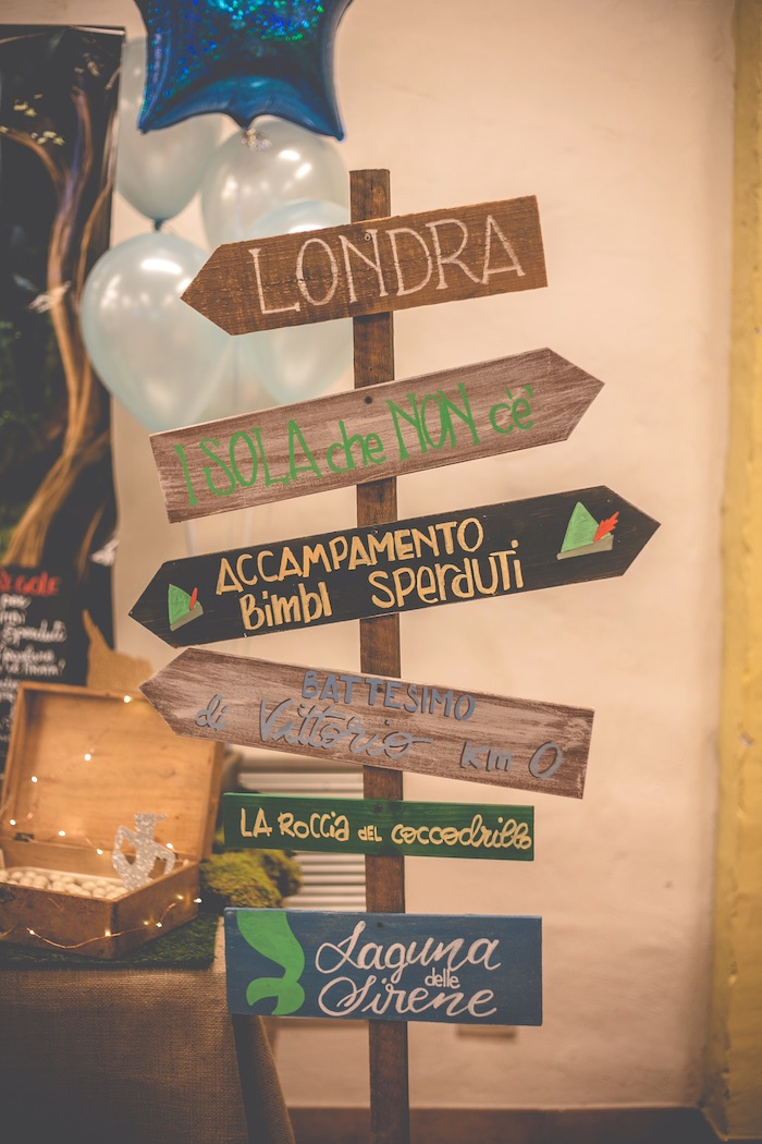 Neverland directional sign from a Peter Pan Neverland Party on Kara's Party Ideas | KarasPartyIdeas.com (20)