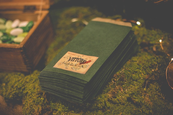 Napkins from a Peter Pan Neverland Party on Kara's Party Ideas | KarasPartyIdeas.com (18)