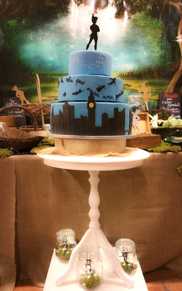 Cake from a Peter Pan Neverland Party on Kara's Party Ideas | KarasPartyIdeas.com (5)