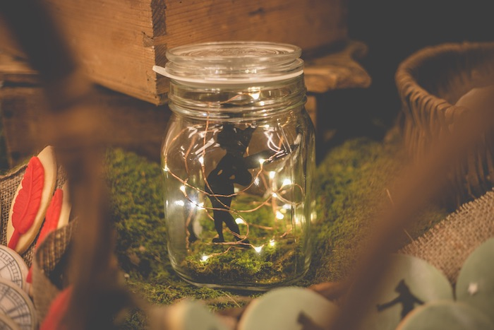 Twinkle light character jar from a Peter Pan Neverland Party on Kara's Party Ideas | KarasPartyIdeas.com (27)